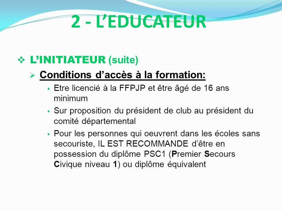 2 - L'EDUCATEUR L'INITIATEUR (suite)