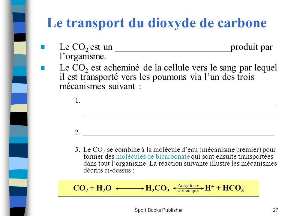 Le transport du dioxyde de carbone