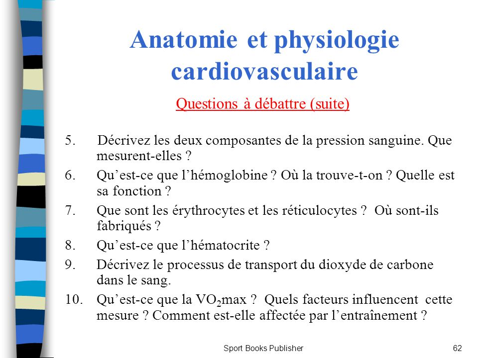Anatomie et physiologie cardiovasculaire