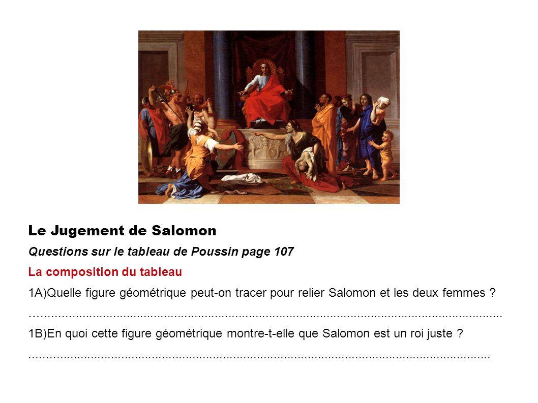 Le Jugement de Salomon Questions sur le tableau de Poussin page 107
