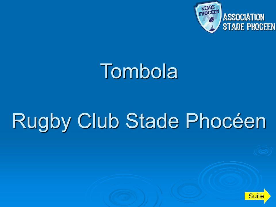 Tombola Rugby Club Stade Phocéen