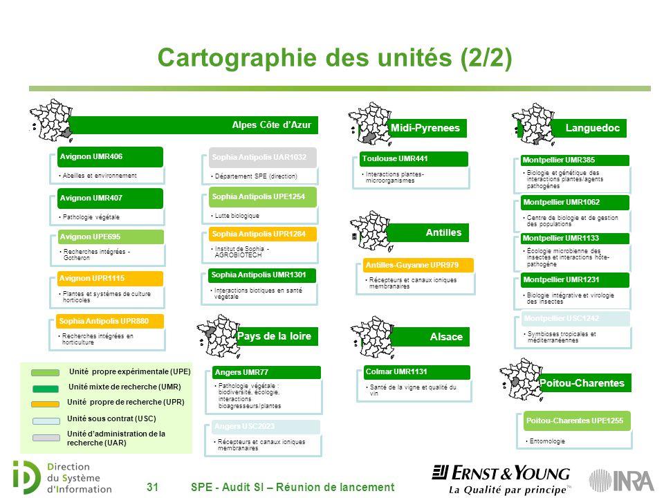 Cartographie des unités (2/2)