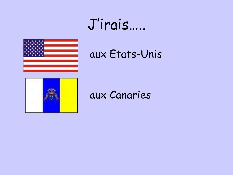 J'irais….. aux Etats-Unis aux Canaries