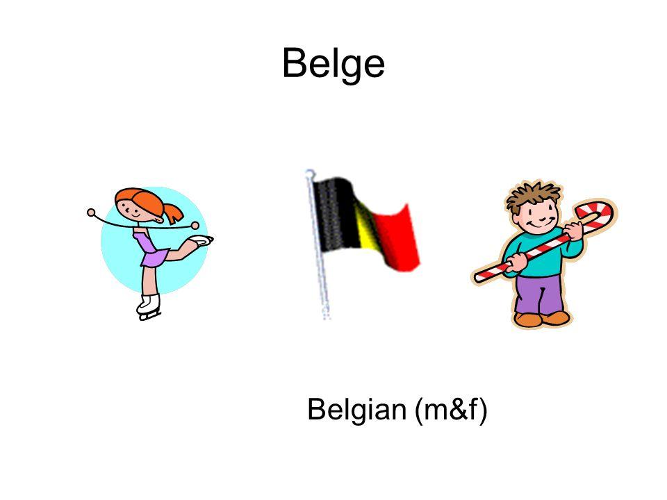 Belge Belgian (m&f)