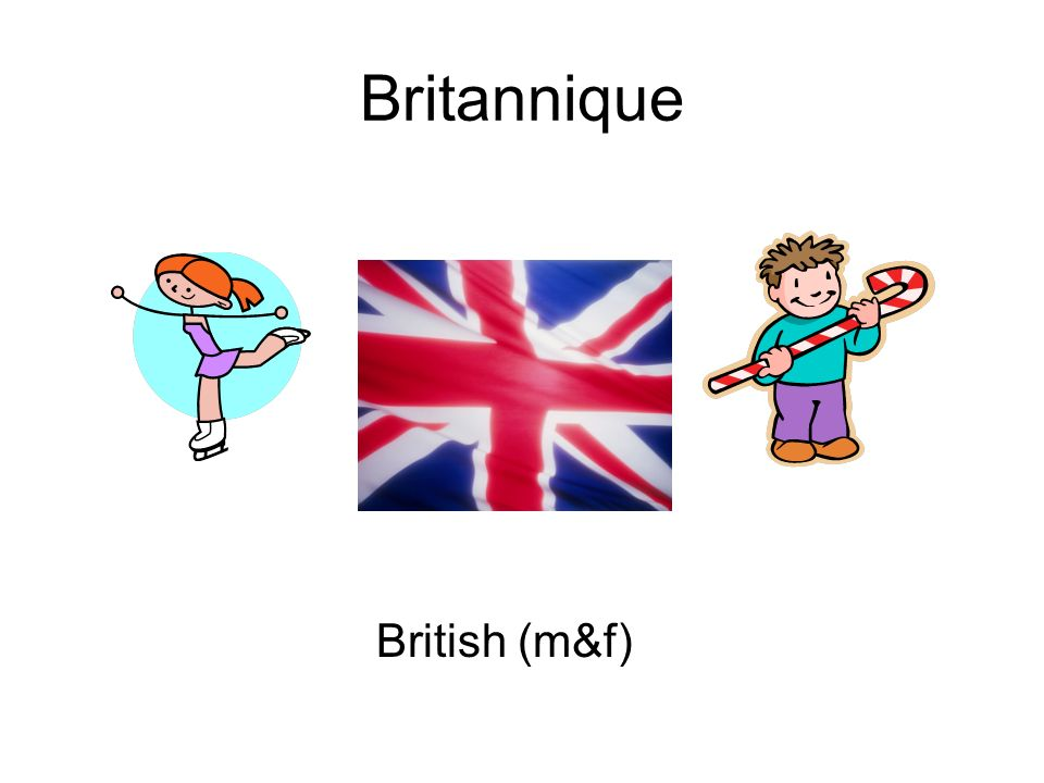 Britannique British (m&f)