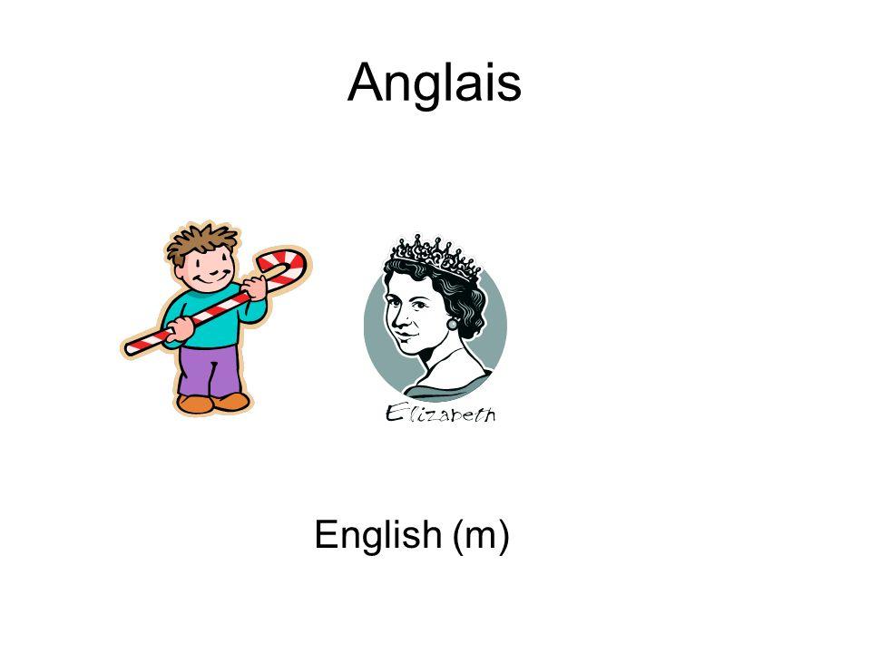 Anglais English (m)