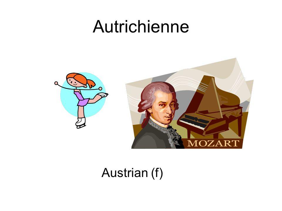 Autrichienne Austrian (f)