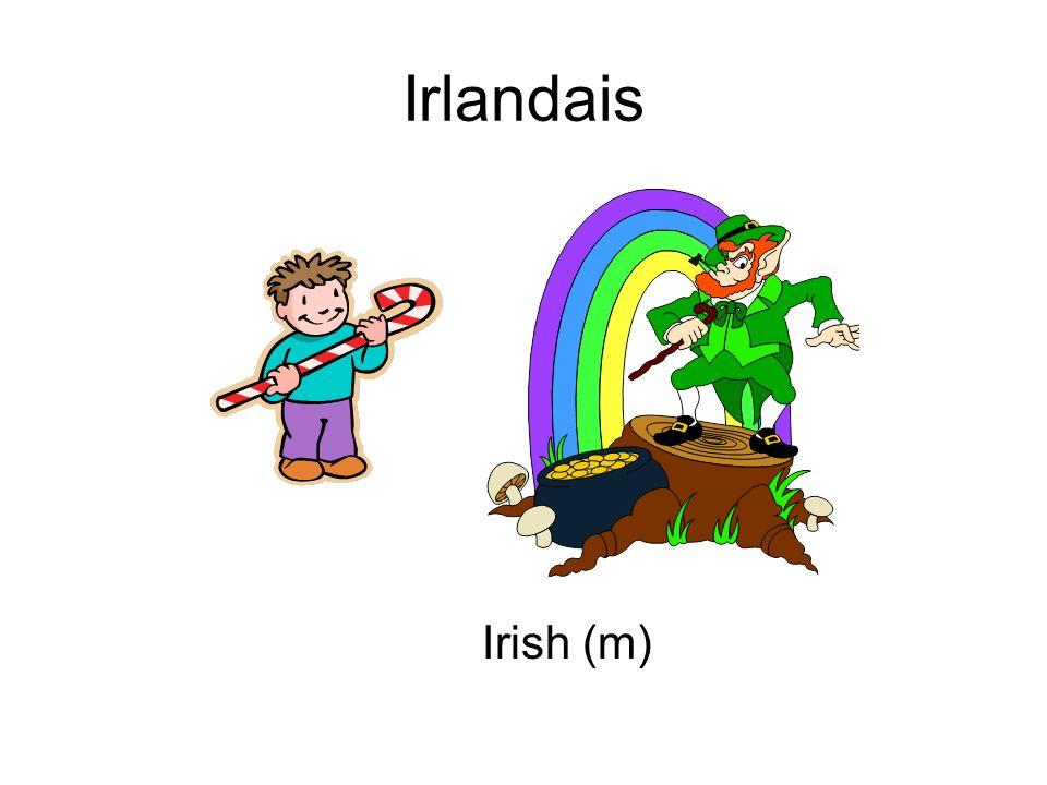 Irlandais Irish (m)