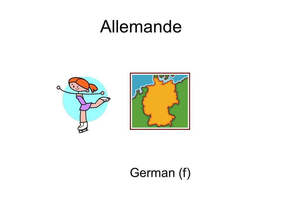 Allemande German (f)