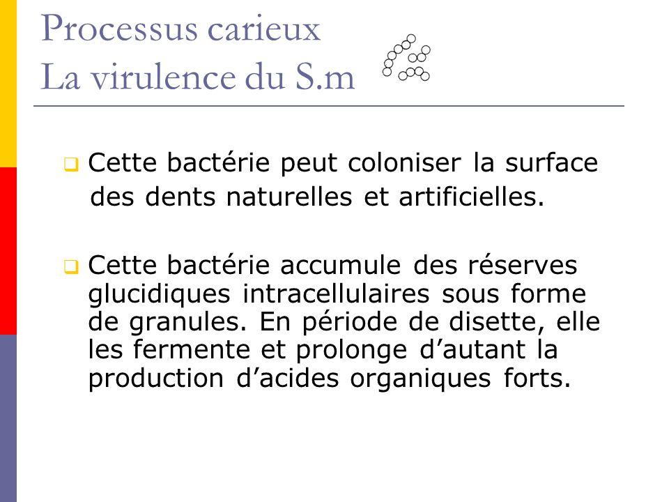 Processus carieux La virulence du S.m