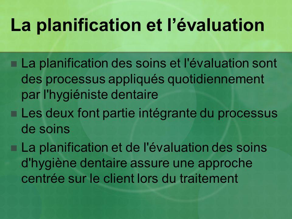 La planification et l'évaluation