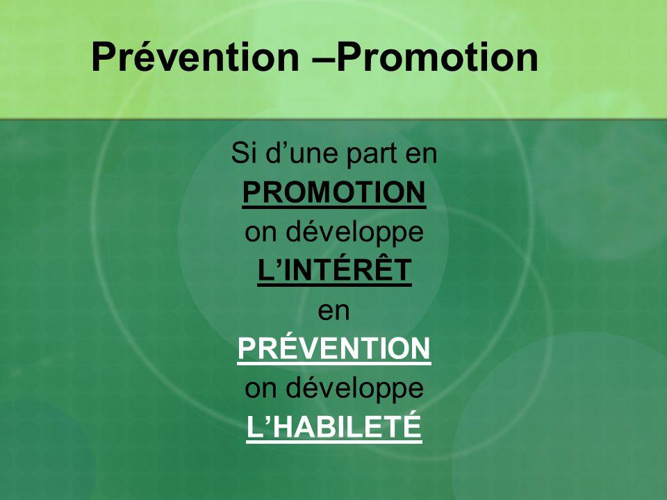 Prévention –Promotion