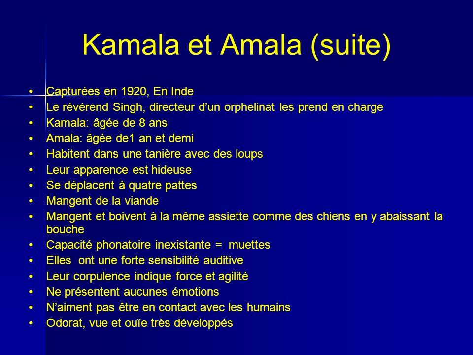 Kamala et Amala (suite)