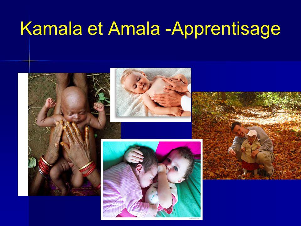 Kamala et Amala -Apprentisage
