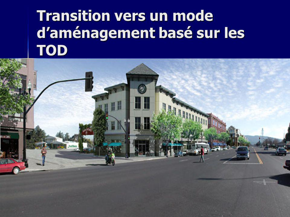 Transition vers un mode d'aménagement basé sur les TOD
