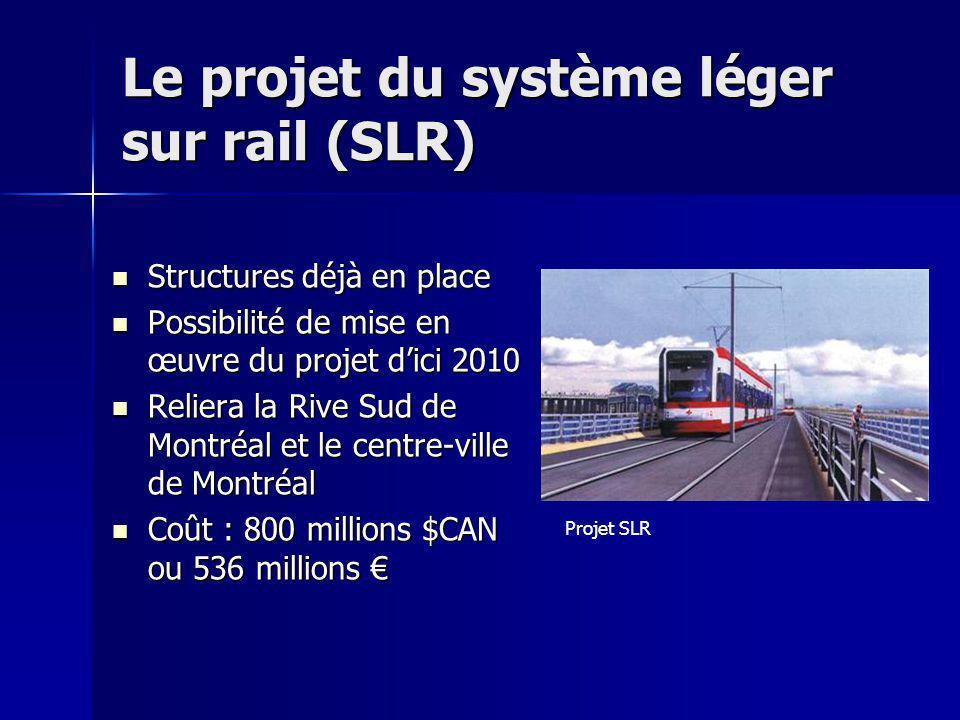 Le projet du système léger sur rail (SLR)