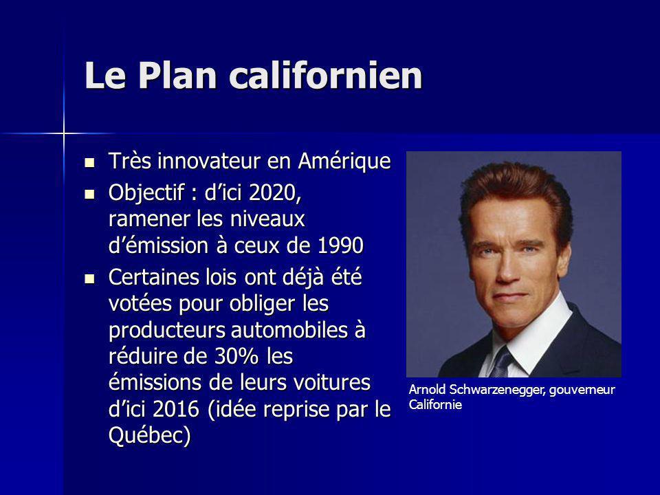 Le Plan californien Très innovateur en Amérique