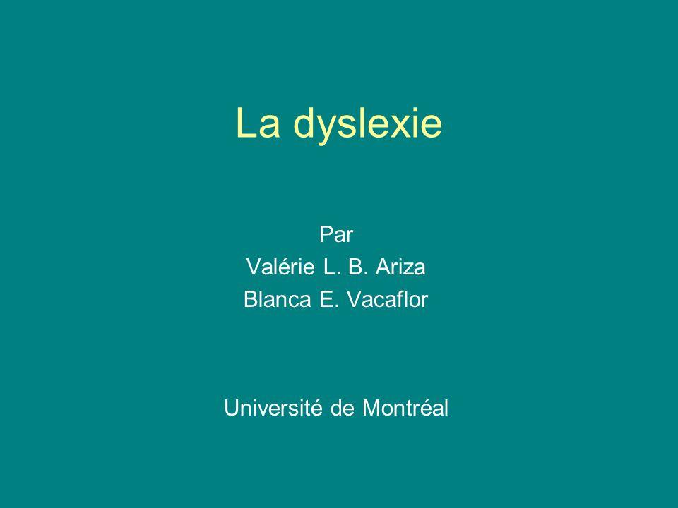 Par Valérie L. B. Ariza Blanca E. Vacaflor Université de Montréal