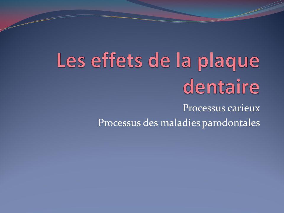 Les effets de la plaque dentaire