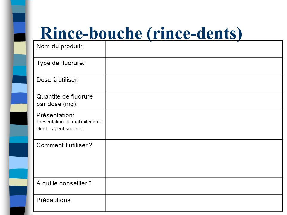 Rince-bouche (rince-dents)