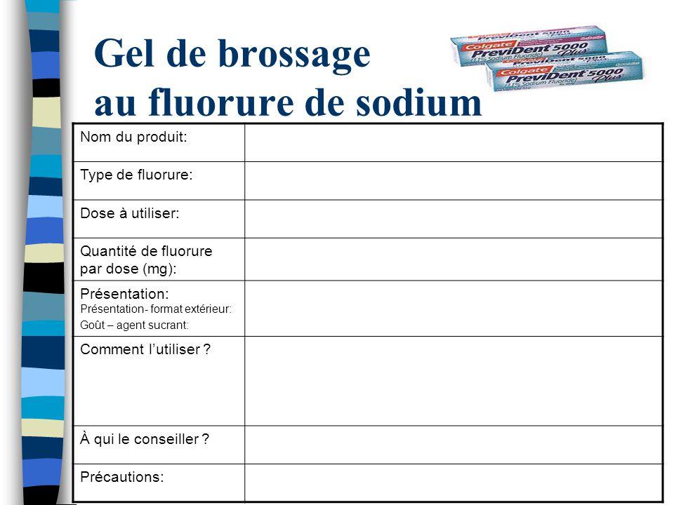 Gel de brossage au fluorure de sodium
