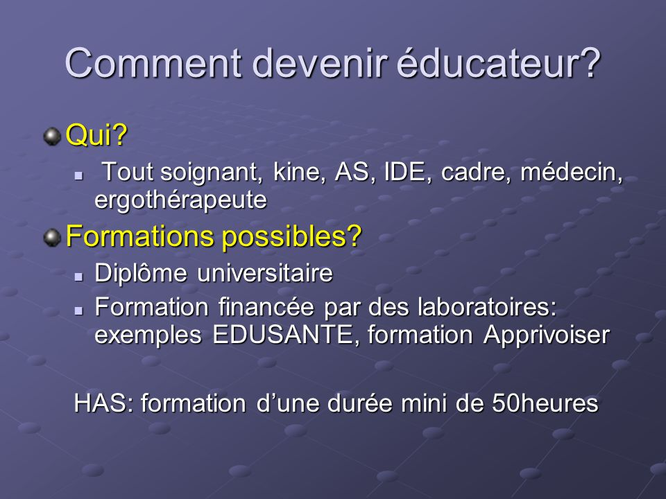 Comment devenir éducateur