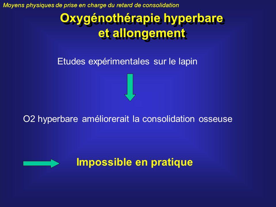 Oxygénothérapie hyperbare et allongement