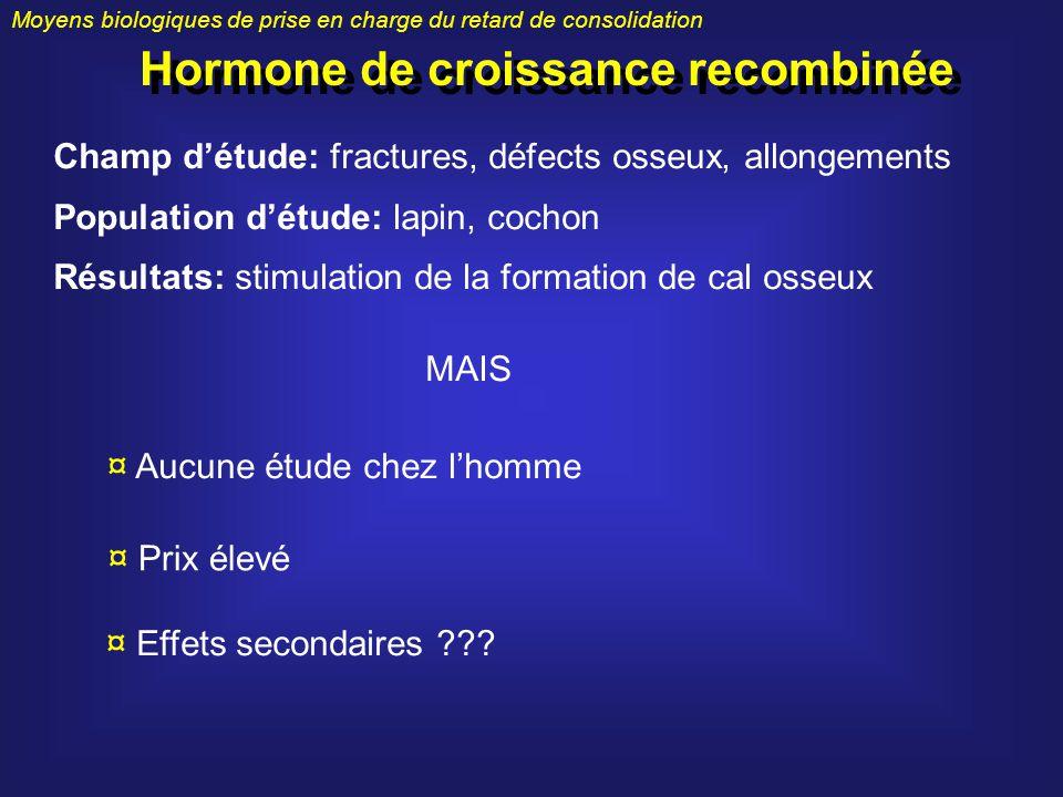 Hormone de croissance recombinée