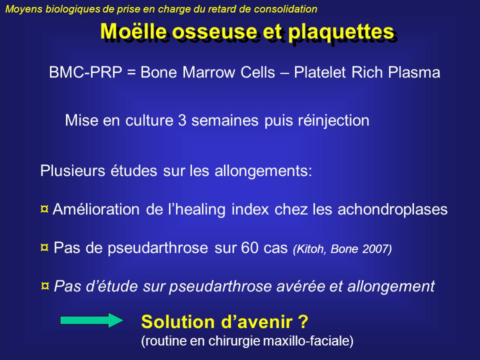 Moëlle osseuse et plaquettes