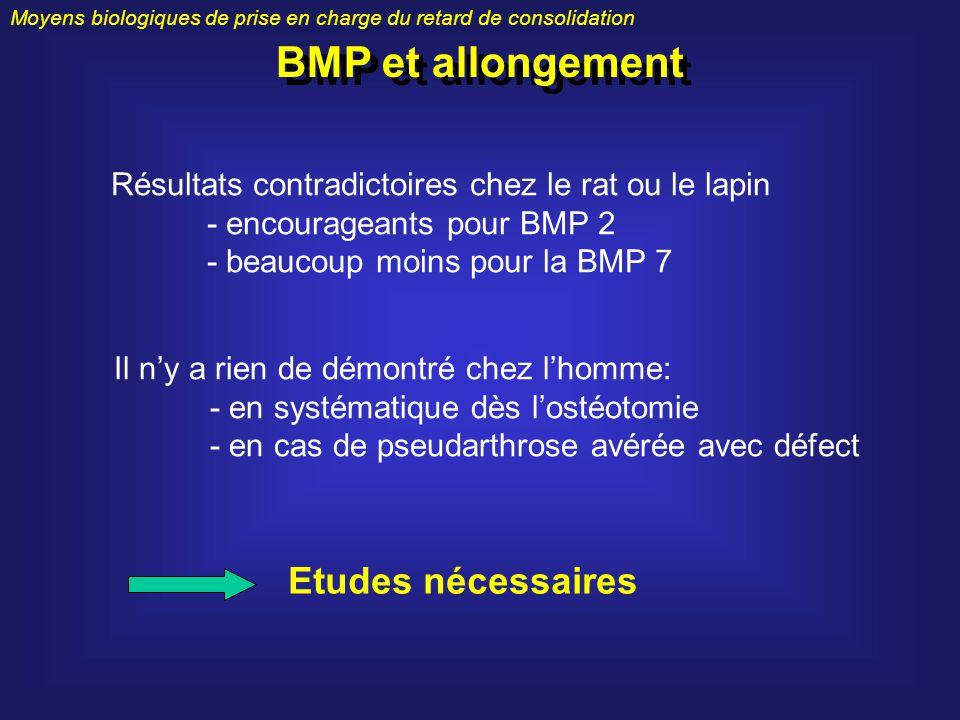 BMP et allongement Etudes nécessaires