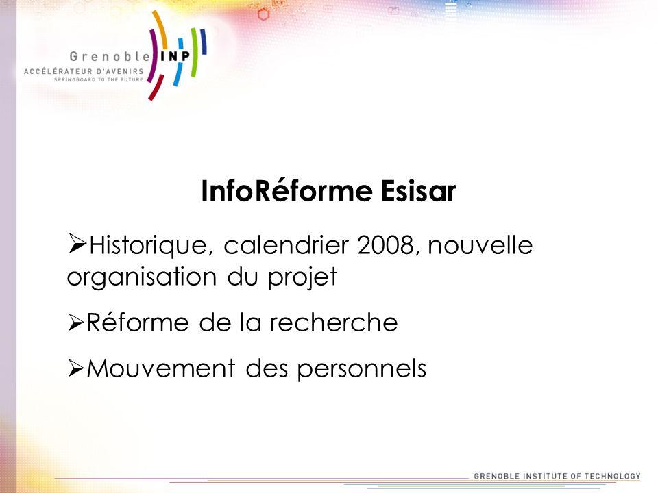 Historique, calendrier 2008, nouvelle organisation du projet