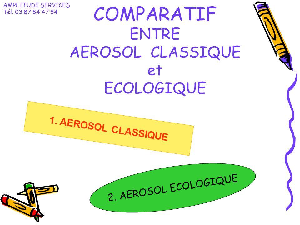 COMPARATIF ENTRE AEROSOL CLASSIQUE et ECOLOGIQUE