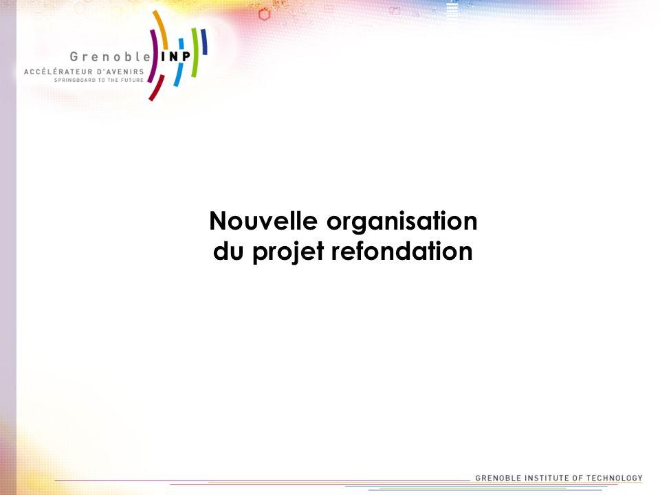 Nouvelle organisation du projet refondation