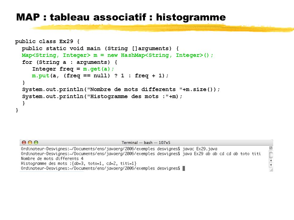 MAP : tableau associatif : histogramme