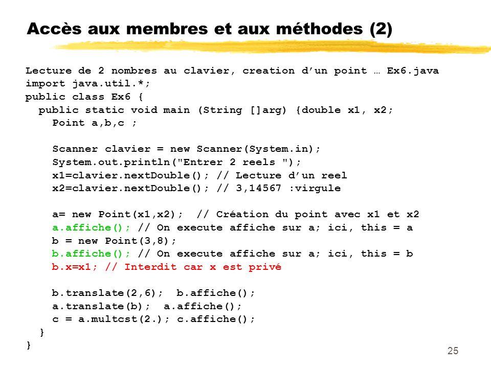 Accès aux membres et aux méthodes (2)