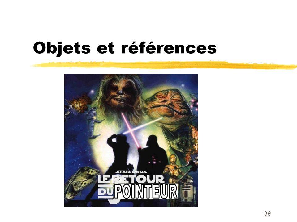 Objets et références