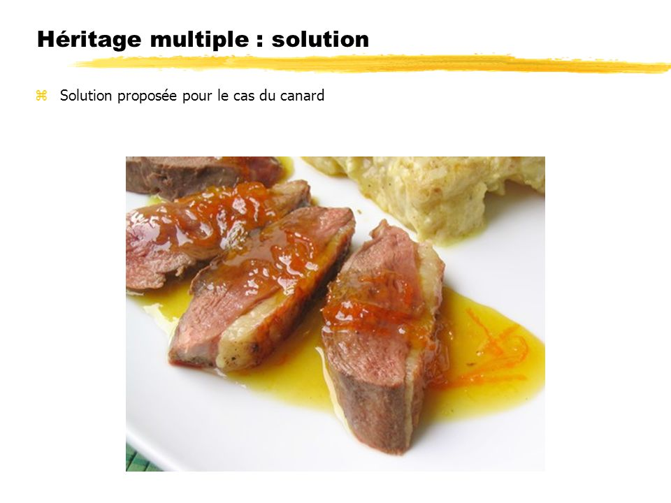 Héritage multiple : solution