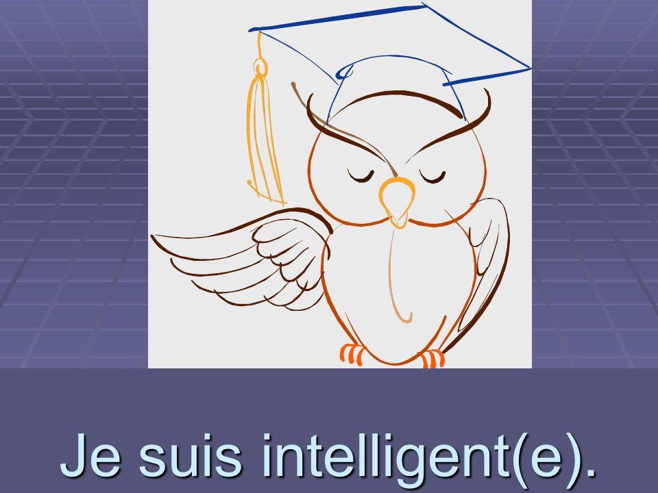 Je suis intelligent(e).