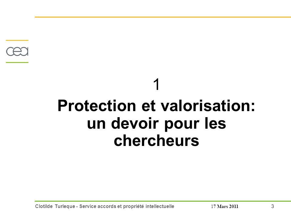 Protection et valorisation: un devoir pour les chercheurs