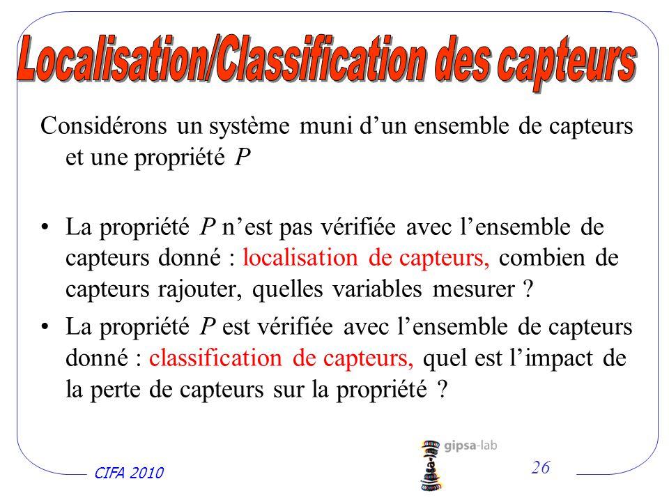 Localisation/Classification des capteurs