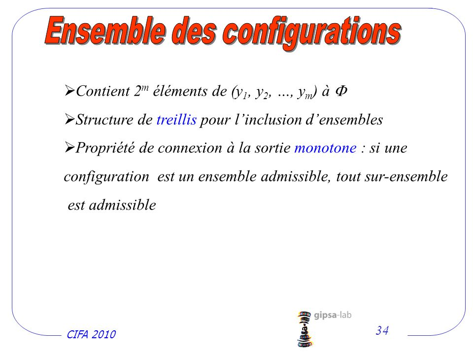 Ensemble des configurations