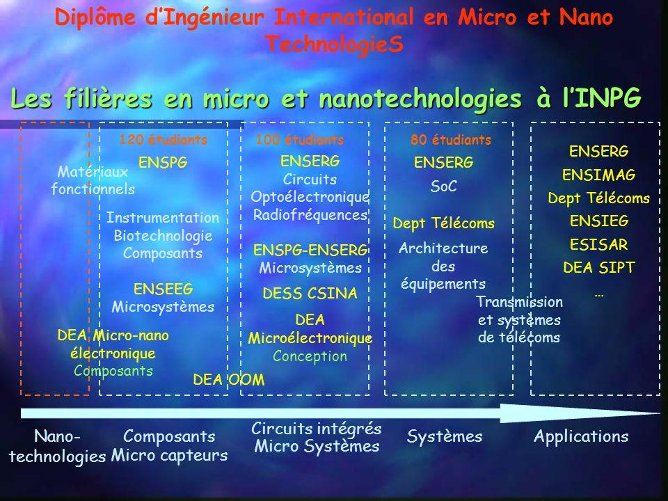 Les filières en micro et nanotechnologies à l'INPG