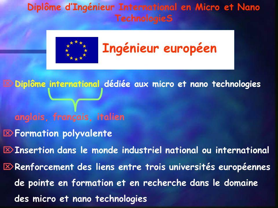 Diplôme d'Ingénieur International en Micro et Nano TechnologieS