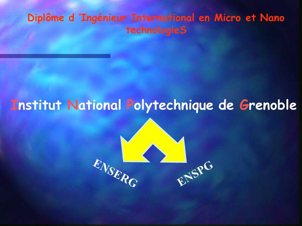 Diplôme d 'Ingénieur International en Micro et Nano technologieS
