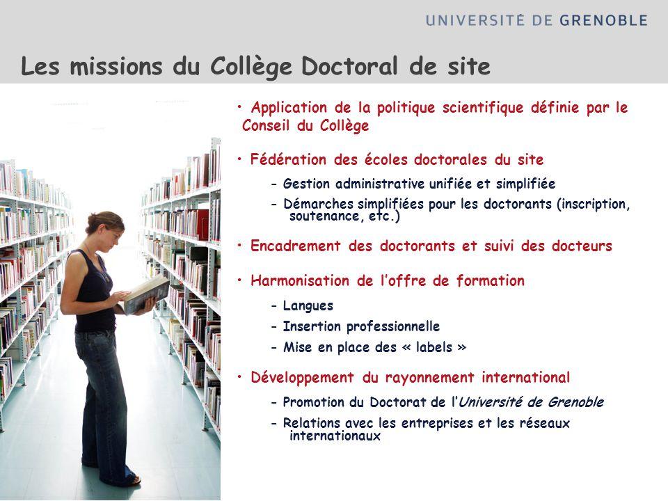 Les missions du Collège Doctoral de site