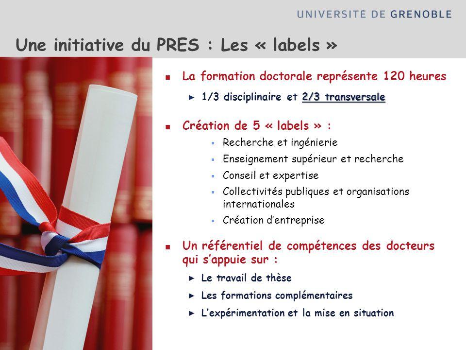 Une initiative du PRES : Les « labels »