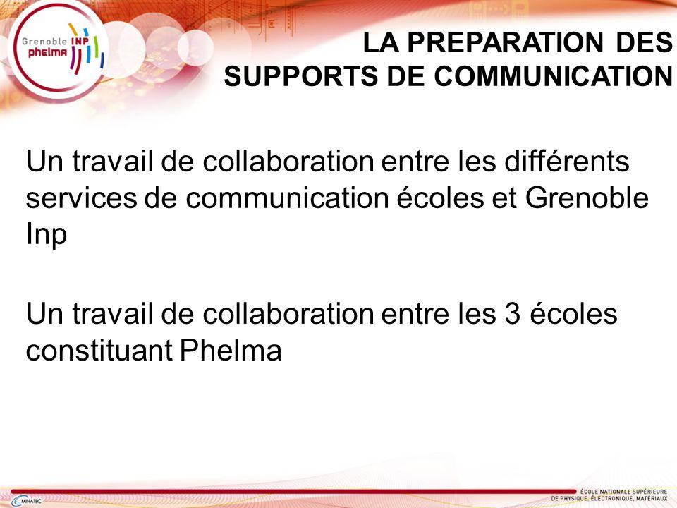 Un travail de collaboration entre les 3 écoles constituant Phelma