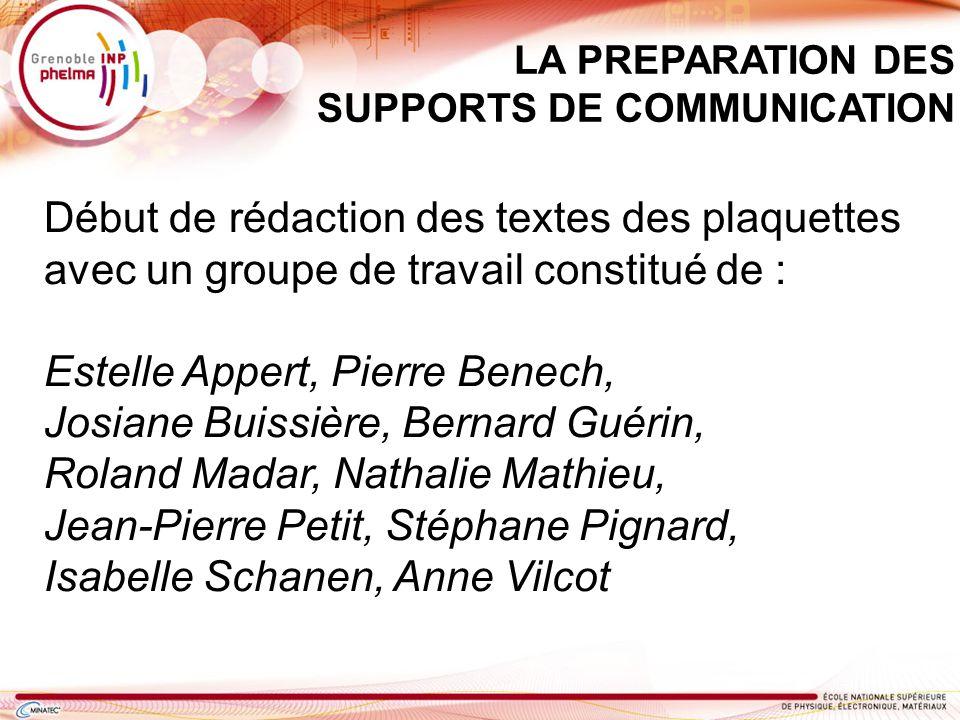 Estelle Appert, Pierre Benech, Josiane Buissière, Bernard Guérin,