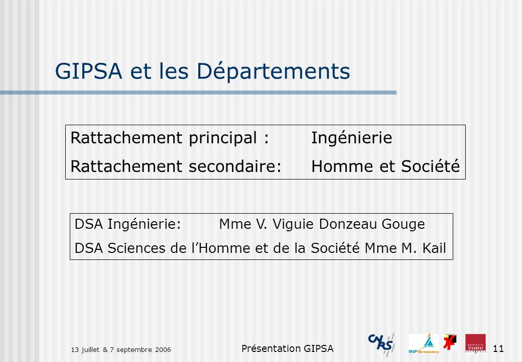 GIPSA et les Départements