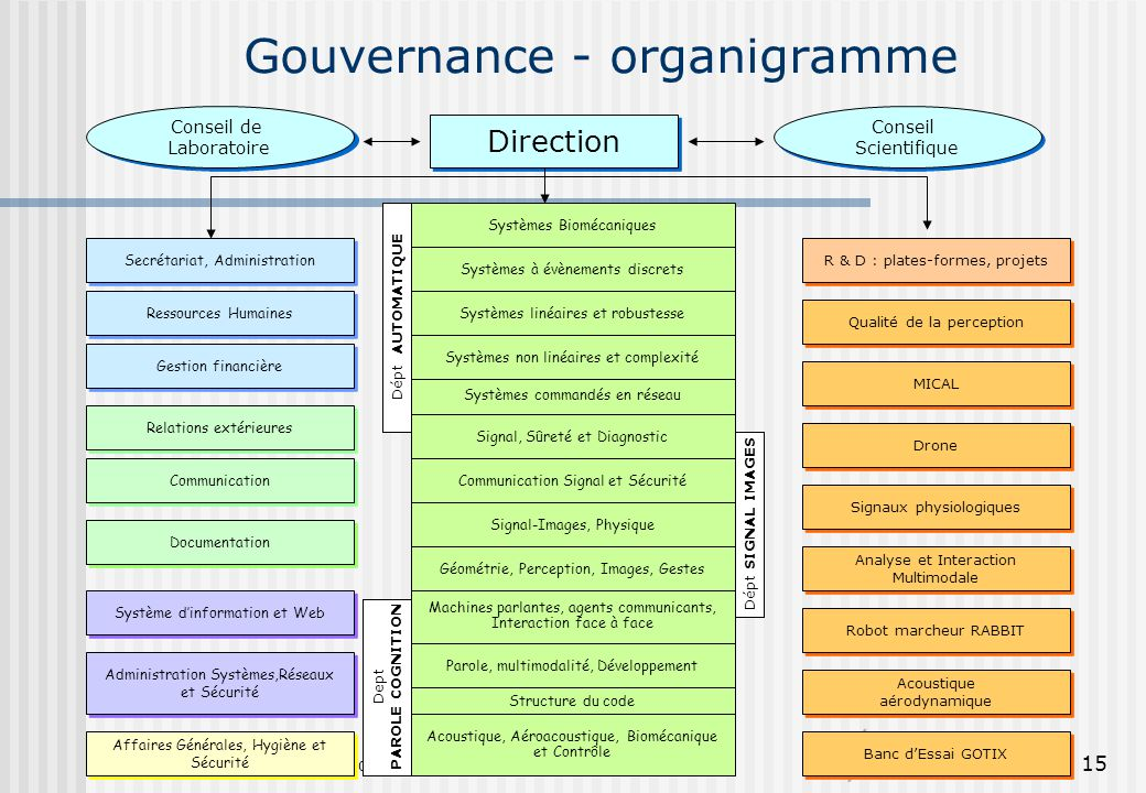 Gouvernance - organigramme